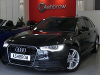 USED 2014 14 AUDI A6 AVANT 2.0 TDI ULTRA S LINE 5d 190 S/S UPGRADE PRIVACY GLASS, SAT NAV, BLUETOOTH PHONE & MUSIC STREAMING, DAB RADIO,  LED XENON LIGHTS, 18 INCH TWIN 5 SPOKE ALLOYS, ELECTRIC TAILGATE, FRONT & REAR PARKING SENSORS WITH DISPLAY, TWIN EXHAUST, FULL BLACK LEATHER, CRUISE CONTROL, AUTO HILL HOLD, LIGHT & RAIN SENSORS, 1 OWNER FROM NEW, FULL AUDI SERVICE HISTORY, £30 ROAD TAX
