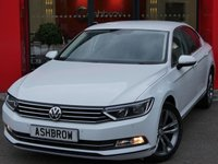 USED 2015 15 VOLKSWAGEN PASSAT 1.6 TDI GT BLUEMOTION TECH 4d 120 S/S NEW SHAPE, UPGRADE HEATED WINDSCREEN, UPGRADE REAR VIEW CAMERA, SAT NAV, DAB RADIO, HEATED FRONT SEATS, BLUETOOTH PHONE & MUSIC STREAMING, FRONT & REAR PARKING SENSORS, 18 INCH 10 SPOKE ALLOYS, PRIVACY GLASS, BLACK LEATHER ALCANTARA INTERIOR, LEATHER MULTIFUNCTION STEERING WHEEL, KEYLESS START, DRIVING MODE SELECT, AUTO LIGHTS & WIPERS, CRUISE CONTROL, ELECTRIC HEATED FOLDING DOOR MIRRORS, BALANCE OF VW WARRANTY, SERVICE HISTORY, £20 ROAD TAX