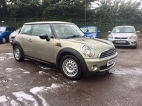 2007 MINI HATCH ONE 1.4 ONE 3d PART EXCHANGE TO CLEAR  £3250.00
