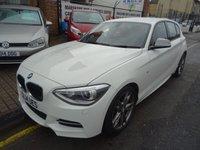 USED 2014 14 BMW 1 SERIES 3.0 M135I 5d AUTO 316 BHP  ALPINE WHITE/BLACK LEATHER