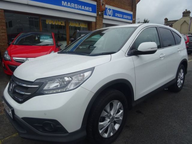 2014 14 HONDA CR-V 2.0 I-VTEC SE 5d AUTO 153 BHP  DIAMOND WHITE/BLACK VELOUR
