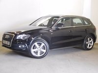 USED 2012 12 AUDI Q5 2.0 TDI QUATTRO DPF S LINE 5d 168 BHP 4WD LEATHER COMFORT PACK ONE OWNER FSH 4WD. STUNNING BLACK MET WITH FULL BLACK LEATHER S LINE SPORTS TRIM. HEATED SEATS. CRUISE CONTROL. 19 INCH ALLOYS. COLOUR CODED TRIMS. PARKING SENSORS. ELECTRIC TAILGATE. BLUETOOTH PREP. AIR CON. R/CD PLAYER. 6 SPEED MANUAL. MFSW. MOT 07/18. ONE OWNER FROM NEW. FULL SERVICE HISTORY. FCA FINANCE APPROVED DEALER. TEL 01937 849492