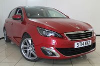 USED 2014 14 PEUGEOT 308 1.6 E-HDI FELINE 5DR 114 BHP FULL SERVICE HISTORY + HALF LEATHER SEATS + CLIMATE CONTROL + SAT NAVIGATION + REVERSE CAMERA + PANORAMIC ROOF + BLUETOOTH