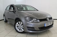 USED 2014 14 VOLKSWAGEN GOLF 1.6 SE TDI BLUEMOTION TECHNOLOGY DSG 5DR AUTOMATIC 103 BHP VW SERVICE HISTORY + AIR CONDITIONING + PARKING SENSOR + BLUETOOTH + CRUISE CONTROL + 16 INCH ALLOY WHEELS