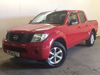 USED 2014 14 NISSAN NAVARA 2.5 DCI VISIA 4X4 SHR DCB 1d 144 BHP AIR CON ALLOYS LOAD LINER KIT ONE OWNER FSH COMMERCIAL (£9900+1980VAT). 4WD. STUNNING RED WITH BLACK CLOTH TRIM. AIR CON. 17 INCH ALLOYS. COLOUR CODED TRIMS. PRIVACY GLASS. CARGO LINER KIT WITH COVER. BLUETOOTH PREP. PAS. EW. 6 SPEED MANUAL. MFSW. MOT 07/18. ONE OWNER FROM NEW. FULL SERVICE HISTORY. FCA FINANCE APPROVED DEALER. TEL 01937 849492