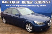 USED 2004 53 BMW 5 SERIES 3.0 530D SE 4d AUTO 215 BHP 2004 BMW 530 TURBO DIESEL AUTOMATIC 4 DOOR IN METALLIC MYSTIC BLUE FULL LEATHER INTERIOR  REAR SMOKED PRIVACY GLASS ALLOYS FACTORY GLASS ELECTRIC SUN ROOF SAT NAV SERVICE HISTORY DE CHROMED
