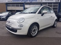 USED 2010 10 FIAT 500 1.2 C LOUNGE MULTIJET 3d 95 BHP SUPER ECO DIESEL 500 CONVERTIBLE