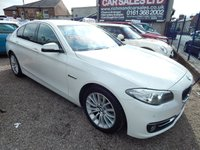 USED 2013 63 BMW 5 SERIES 2.0 520D LUXURY 4d AUTO 181 BHP MASSIVE SPEC CAR, SAT NAV ,HEATED SEATS,F.BMW.SH,