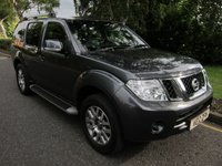USED 2012 12 NISSAN PATHFINDER 2.5 DCI TEKNA 5d 188 BHP FANTASTIC HIGH SPEC NISSAN PATHFINDER IN A GREAT COLOUR WITH SEVEN SEATS, SATELLITE NAVIGATION, FULL BLACK LEATHER, CLIMATE CONTROL, CRUISE CONTROL, SUNROOF, ALLOY WHEELS AND SERVICE HISTORY