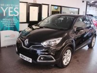 USED 2014 64 RENAULT CAPTUR 0.9 DYNAMIQUE MEDIANAV ENERGY TCE S/S 5d 90 BHP This Captur is £0 tax per annum!!! it's finished in Diamond Black Metallic with Black cloth seats. It is fitted with power steering, daytime running led lights, remote locking, electric windows and mirrors, cruise control, climatic air conditioning, Satellite Navigation, Bluetooth, CD Stereo with USB & Aux port and more. It comes with a full service history consisting of 2 stamps, done @ 11802/20997 miles. The car will be supplied with 12 months MOT (Due November 2017) .