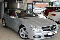 USED 2008 08 MERCEDES-BENZ SL 5.5 SL500 2d AUTO 388 BHP FULL MERCEDES BENZ SERVICE HISTORY + NAPPA RED FULL LEATHER SEATS + NEW SHAPE + SAT NAV + BLUETOOTH + 18 INCH ALLOYS + HEATED SEATS WITH MEMORY FUNCTION + CRUISE CONTROL + BI-XENON HEADLIGHTS