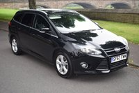 USED 2013 63 FORD FOCUS 1.6 ZETEC TDCI 5d ESTATE 113 BHP 1 OWNER, FULL SERVICE HISTORY, BLUETOOTH, USB PORT,  REAR PRIVACY GLASS,