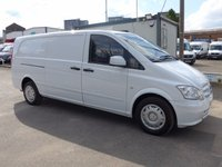 USED 2014 14 MERCEDES-BENZ VITO 113 CDI LWB, 136 BHP [EURO 5], COLOUR CODED, LOW MILES