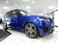 USED 2015 65 LAND ROVER RANGE ROVER SPORT 5.0 V8 SVR 23 INCH OVERFINCH ALLOYS FSH PAN ROOF