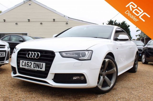 View our 2013 62 AUDI A5 2.0 TDI S LINE BLACK EDITION 2d AUTO 177 BHP