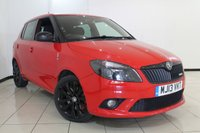 USED 2013 13 SKODA FABIA 1.4 VRS DSG 5DR AUTOMATIC 180 BHP FULL SERVICE HISTORY + MULTI FUNCTION WHEEL + AUXILIARY PORT + RADIO/CD + 17 INCH ALLOY WHEELS