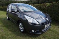 "USED 2010 10 PEUGEOT 5008 1.6 HDI SPORT 5d 110 BHP FSH-ALLOYS-AIR CON-CRUISE Presented with 2 Keys, Full Peugeot Service History & 12 Months MOT, 16"" Alloy Wheels, Crusie Control, Rear Window Blinds, Front Fogs Lights, Air Conditioning, 6 Speed Manual Gearbox, Electric Windows, Electric Mirrors"