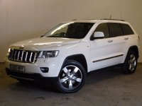 USED 2013 13 JEEP GRAND CHEROKEE 3.0 V6 CRD OVERLAND 5d AUTO 237 BHP SAT NAV PAN ROOF LEATHER FSH 4WD. HUGE SPEC OVERLAND MODEL. SATELLITE NAVIGATION. PANORAMIC SUNROOF. STUNNING WHITE WITH FULL BLACK LEATHER TRIM. ELECTRIC MEMORY HEATED/COOLING SEATS. CRUISE CONTROL. 20 INCH ALLOYS. COLOUR CODED TRIMS. PRIVACY GLASS. PARKING SENSORS. ELECTRIC TAILGATE. REVERSING CAMERA. BLUETOOTH PREP. DUAL CLIMATE CONTROL. R/CD PLAYER. HEATED MFSW. MOT 06/18. FULL SERVICE HISTORY. PRISTINE CONDITION. FCA FINANCE APPROVED DEALER. TEL 01937 849492