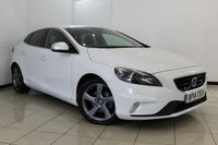 USED 2014 14 VOLVO V40 1.6 D2 R-DESIGN LUX NAV 5DR 113 BHP FULL SERVICE HISTORY + 0% FINANCE AVAILABLE T&C'S APPLY + LEATHER SEATS + SAT NAVIGATION + PARKING SENSOR + BLUETOOTH + CRUISE CONTROL + MULTI FUNCTION WHEEL + 17 INCH ALLOY WHEELS