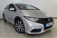 USED 2014 14 HONDA CIVIC 1.6 I-DTEC S 5DR 118 BHP FULL SERVICE HISTORY + CLIMATE CONTROL + PARKING SENSOR + BLUETOOTH + MULTI FUNCTION WHEEL  + 16 INCH ALLOY WHEELS