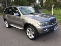USED 2005 05 BMW X5 3.0 D SPORT 5d AUTO 215 BHP GREAT CONDITION IN GREY WITH BLACK LEATHER SAT NAV AND FSH