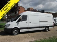 USED 2013 63 MERCEDES-BENZ SPRINTER 2.1 313CDI LWB HIGH ROOF 129 BHP. LOW 94K. FSH. 1 OWNER. 5 SERVICES. LOW RATE FINANCE. PX WELCOME