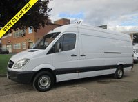 USED 2011 11 MERCEDES-BENZ SPRINTER 2.1 313CDI LWB HIGH ROOF 129 BHP. FSH. PX WELCOME FINANCE ARRANGED. PX WELCOME. BIG CHOICE OF VANS