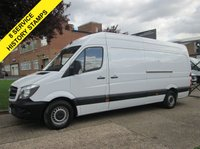 USED 2014 14 MERCEDES-BENZ SPRINTER 2.1 313CDI LWB HIGH ROOF 129 BHP. FSH. 1 OWNER. FACELIFT. 8 SERVICES. JUST SERVICED. LOW RATE FINANCE. PX