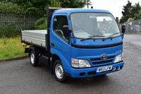USED 2013 13 TOYOTA DYNA 3.0 300 D-4D SWB 2d 142 BHP FWD EURO 5 DIESEL MANUAL TIPPER ONE OWNER FULL S/H  SPARE KEY