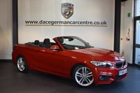 USED 2015 65 BMW 2 SERIES 2.0 220D M SPORT 2DR AUTO 188 BHP + BUISENESS SATELLITE NAVIGATION SYSTEM + BLUETOOTH + MSPORTS PACKAGE + SPORTS SEATS + DAB TUNER + PARKING SENSORS + 18 INCH ALLOY WHEELS +