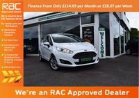 USED 2013 63 FORD FIESTA 1.2 ZETEC 3d 81 BHP FINANCE FROM ONLY £82.25pm