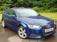 USED 2013 63 AUDI A3 2.0 TDI SPORT 5d 148 BHP FULL SERVICE HISTORY AND 12 MONTHS MOT