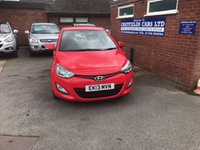 USED 2013 13 HYUNDAI I20 1.4 ACTIVE BLUE DRIVE CRDI 5d 89 BHP £0 ROAD TAX