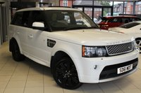 USED 2011 61 LAND ROVER RANGE ROVER SPORT 5.0 V8 AUTOBIOGRAPHY SPORT 5d AUTO 510 BHP FULL SERVICE HISTORY + FULL LEATHER SEATS + SAT NAV + BLUETOOTH + REVERSE CAMERA + ELECTRIC GLASS SUNROOF + AIR SUSPENSION + XENON HEADLIGHTS + 20 INCH ALLOYS + FRONT AND REAR HEATED SEATS + ELECTRIC TAILGATE