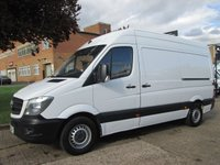 USED 2014 14 MERCEDES-BENZ SPRINTER 2.1 313CDI MWB HIGH ROOF 129 BHP. 1 OWNER. ONLY 89K. FSH. 1 OWNER. 5 SERVICES. LOW RATE FINANCE. PX WELCOME. FSH.
