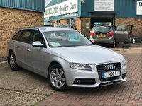 USED 2009 59 AUDI A4 2.0 AVANT TDI 5d 118 BHP Silver Met with Cam Belt Water Pump History Fantastic Audi A4 Avant 2.0 TDi Stop/Start Finished in Silver Met Climate Control 6 Speed Manual
