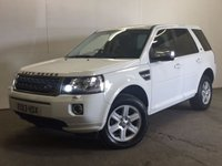 USED 2013 13 LAND ROVER FREELANDER 2 2.2 TD4 S 5d 150 BHP FACELIFT AIRCON PRIVACY ONE OWNER FSH NO FINANCE REPAYMENTS FOR 2 MONTHS STC. FACELIFT MODEL 4WD. STUNNING WHITE WITH BLACK CLOTH TRIM. 17 INCH ALLOYS. COLOUR CODED TRIMS. PRIVACY GLASS. AIR CON. R/CD/MP3 PLAYER. 6 SPEED MANUAL. MFSW. MOT 06/18. ONE OWNER FROM NEW. FULL DEALER SERVICE HISTORY. PRISTINE CONDITION. FCA FINANCE APPROVED DEALER. TEL 01937 849492.