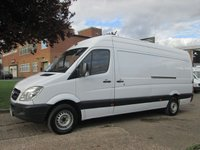 USED 2012 62 MERCEDES-BENZ SPRINTER 2.1 313CDI LWB HIGH ROOF 129 BHP. 1 OWNER. MOT- 07/2018 8 SERVICES. LOW RATE FINANCE. PX WELCOME