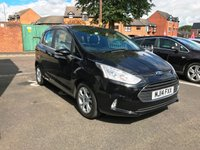 USED 2014 14 FORD B-MAX 1.6 ZETEC 5d AUTO 104 BHP EXCELLENT FUEL ECONOMY!!..LOW CO2 EMISSIONS(149G/KM)..LOW ROAD TAX..FULL FORD HISTORY...ONLY 8705 MILES FROM NEW!!...WITH PARKING SENSORS, ALLOY WHEELS, AND FRONT HEATED SCREEN!!