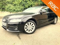 2009 AUDI A4 2.0 TDI SE 4d 143 BHP 6 speed BLUETOOTH, CAM BELT CHANGED £4990.00