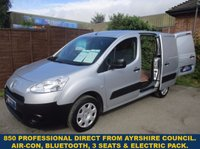 2013 PEUGEOT PARTNER 850 L1 PROFESSIONAL WITH AIR-CON & 3 SEATS £5545.00
