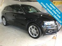 USED 2009 09 AUDI Q5 2.0 TDI QUATTRO DPF S LINE 5d 168 BHP Full service history, Full leather upholstery,    Heated front seats,    Bluetooth,    Audi Concert sound system,    Rear parking sensors