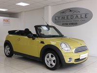 USED 2010 10 MINI CONVERTIBLE 1.6 ONE 2d 98 BHP Fabulous Overall Condition With Full Service Hisory & 1 Yr MOT