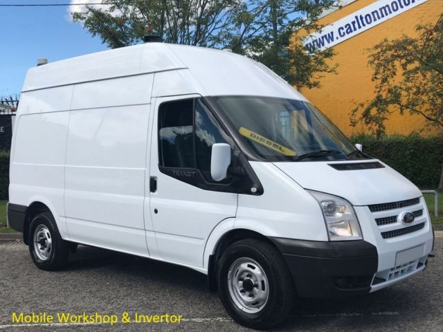 2012 12 FORD TRANSIT 2.2 T350 MWB Hi/R [ Mobile Workshop ] Van Rwd Free UK Delivery