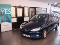 USED 2006 06 PEUGEOT 206 1.4 SW VERVE HDI 5d 68 BHP PART EXCHANGE TO CLEAR!, £30 tax per year - Small Estate Car with July 2018 MOT. Alloy wheels and air conditioning, low insurance group - This 206 is finished in metallic Blue with Black cloth seats. It is fitted with power steering, remote locking, electric front windows, air conditioning, alloy wheels, front fog lights, CD Stereo and more. It has been privately owned and comes with some service history. The Mot runs till July 2018.  It has a few small car park dents/marks to the body work.