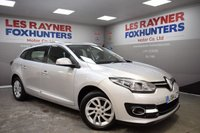 USED 2014 64 RENAULT MEGANE 1.5 DYNAMIQUE TOMTOM ENERGY DCI S/S 5d 110 BHP Free Tax , Superb MPG , Bluetooth Connectivity