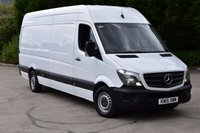 USED 2015 15 MERCEDES-BENZ SPRINTER 2.1 313 CDI LWB HIGH ROOF 5d 129 BHP EURO 5 RWD DIESEL PANEL MANUAL VAN ONE OWNER FULL SERVICE HISTORY LOVELY DRIVE