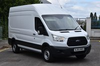 USED 2014 64 FORD TRANSIT 2.2 350 P/V 5d 125 BHP EURO 5 LWB L3 H3 HIGH ROOF DIESEL MANUAL VAN ONE OWNER FULL S/H SPARE KEYS