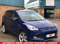 USED 2013 63 FORD KUGA 2.0 TITANIUM X TDCI 5d AUTO 160 BHP Performance Blue Metallic One of our own Vehicles, Finished in Performance Blue Metallic with Black Leather Pan Sunroof