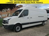 USED 2013 63 VOLKSWAGEN CRAFTER 2.0TDI CR35 LWB HIGH ROOF. AIRCON. ELECTRIC PACK. PX 5 FVWSH STAMPS. LOW RATE FINANCE. PX WELCOME